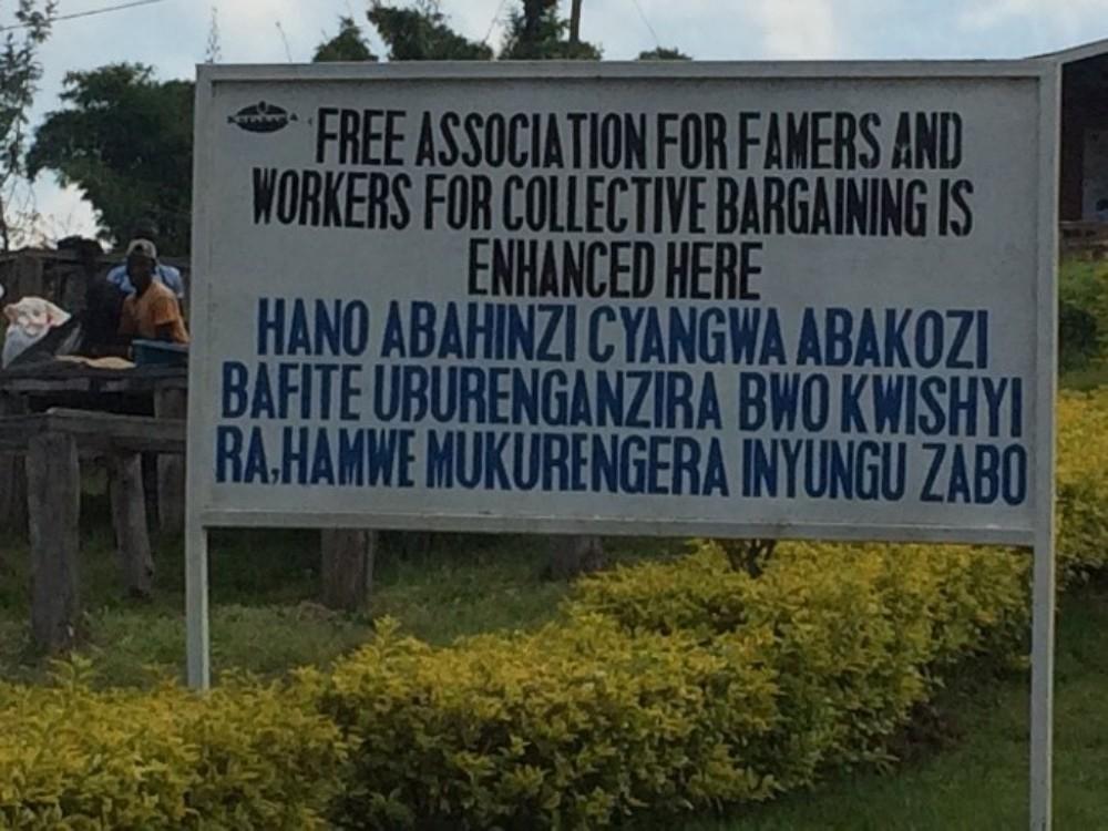 Sign in Kopakama, Rwanda