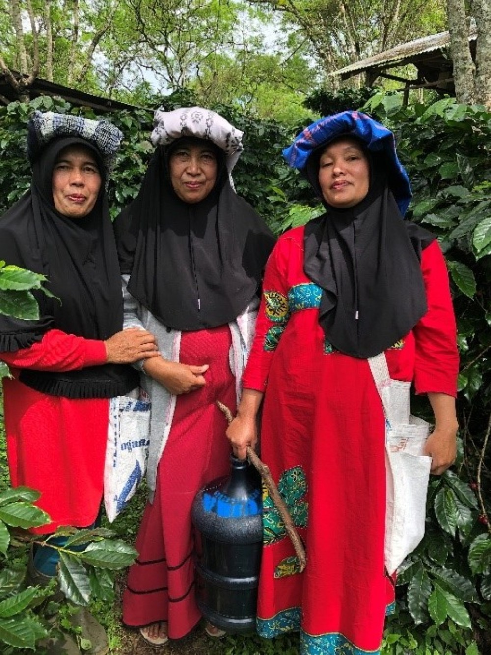 Gayo Farmers in traditional dress