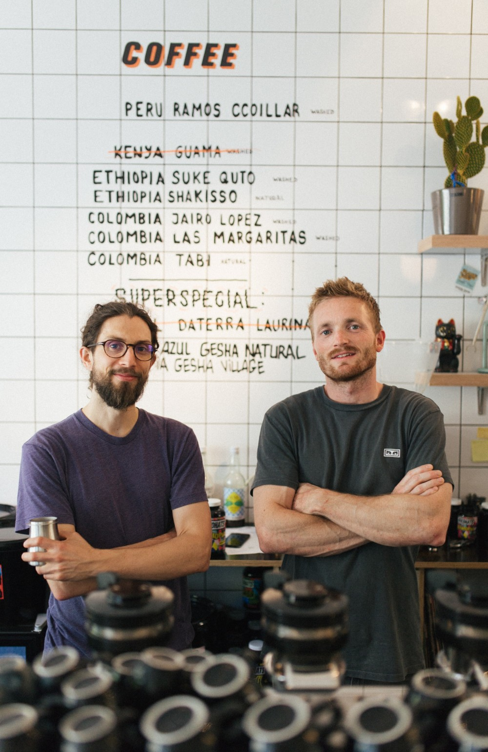 Pictured: Dylan Sedgwick (left) and Lex Wenneker, co-owners of Friedhats. Photo credit: Viktor Dobai