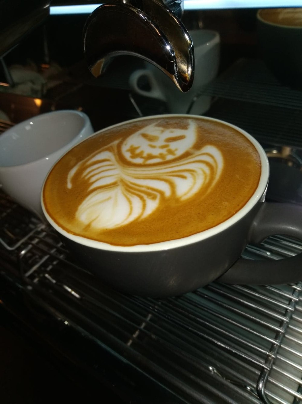 Halloween Latte Art by Monsoon Estates