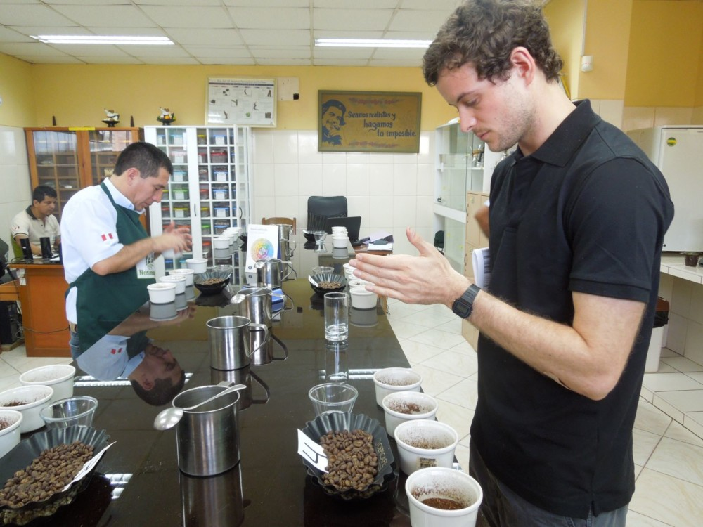 Henry cupping at sol y cafe